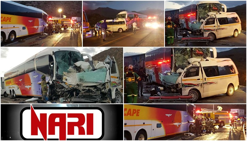 WORCESTER, WESTERN CAPE: 13 KILLED IN COLLISION BETWEEN BUS & TAXI