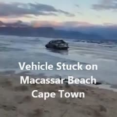 RESCUE MISSION AFTER BAKKIE GOT STUCK ON MACASSAR BEACH NEAR CAPE TOWN