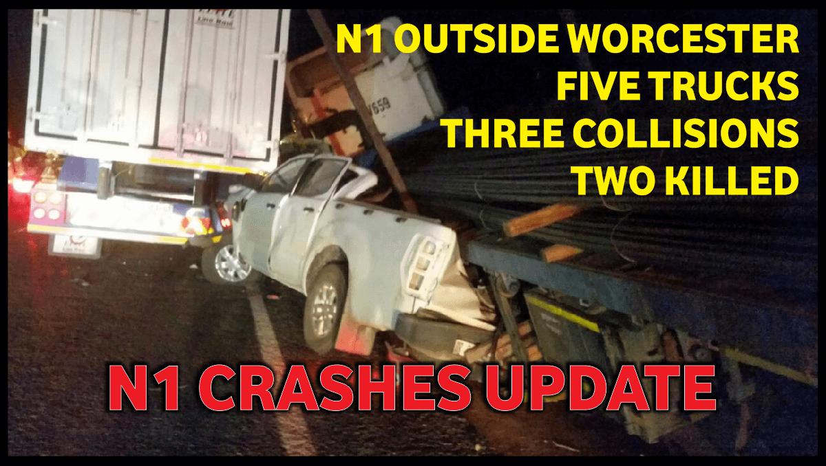 N1 WORCESTER CRASH UPDATES: FIVE TRUCKS, THREE COLLISIONS